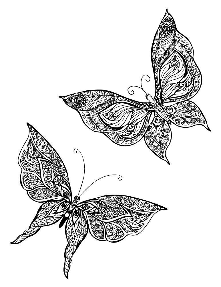 Artherapie Ca On Twitter Coloriage Papillon Pour Adulte A