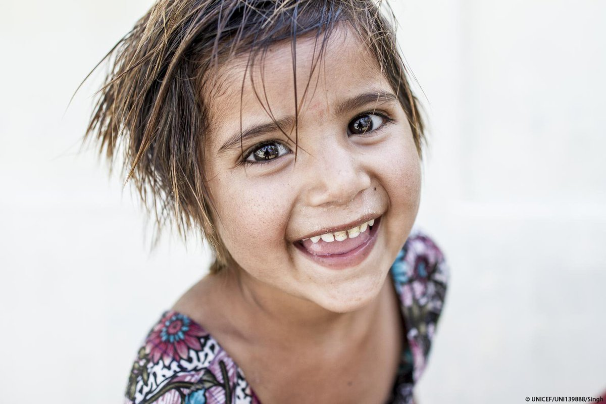 She smiles. You smile. He smiles. They smile. We smile.  Pass it on 😄!  #ForEveryChild