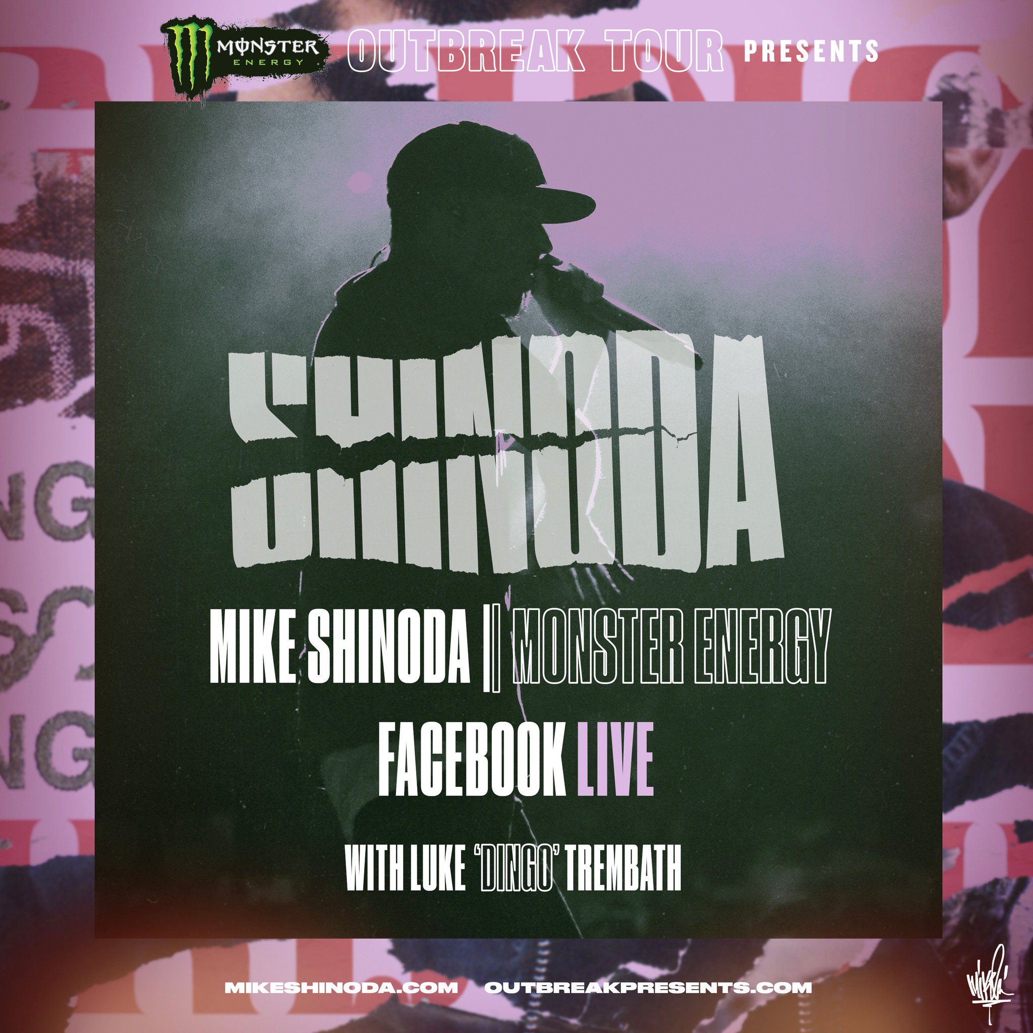 Tomorrow @ 10am (PT) /// I'm doing a live Q&A on @MonsterEnergy's Facebook Page /// See you there   #OutbreakTour https://t.co/xqtbMrFJNm