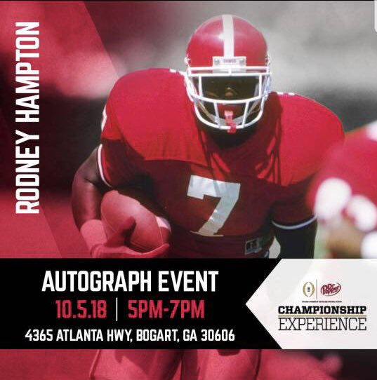 dc4a7d685 ... GA for the Dr. Pepper Championship experience event. I'll be there from  5pm-7pm on 10/5 signing autographs and meeting fans, hope to see you there!