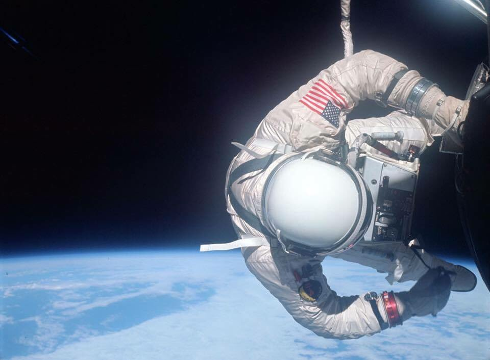 Life is so much better once you've seen the world from this perspective. #Gemini12 #Peace #NASA #SpaceWalk