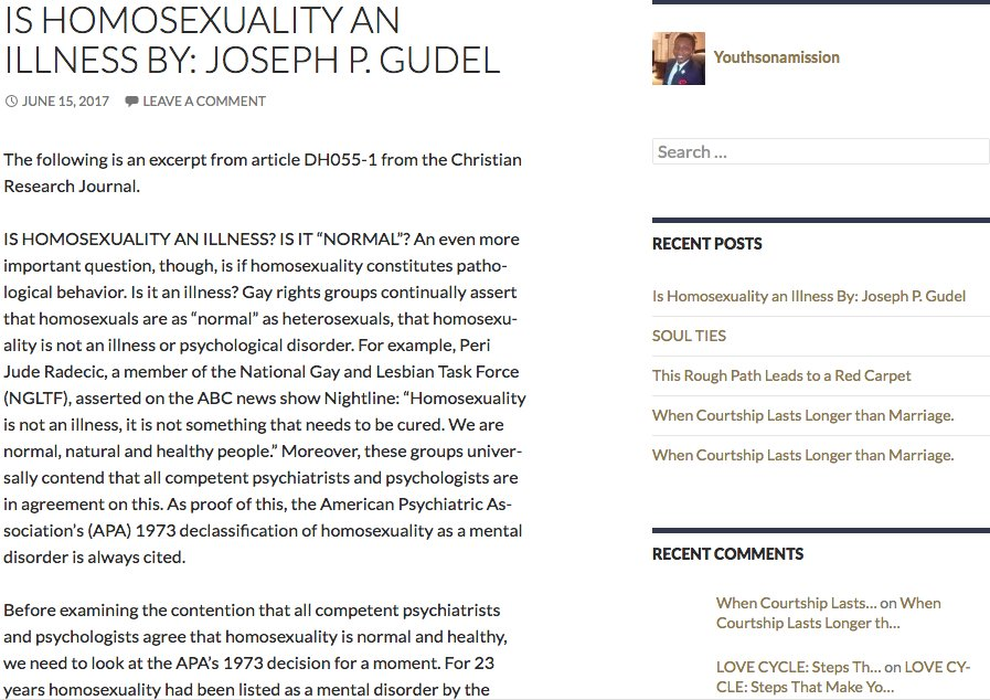 Joseph gudel homosexuality and christianity