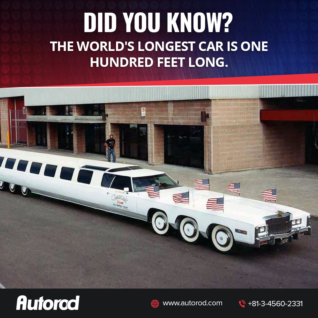 The Mive Limousine Which Was Built By California S Custom Car Guru Jay Ohrberg Is Certified As Longest In World Guinness Records