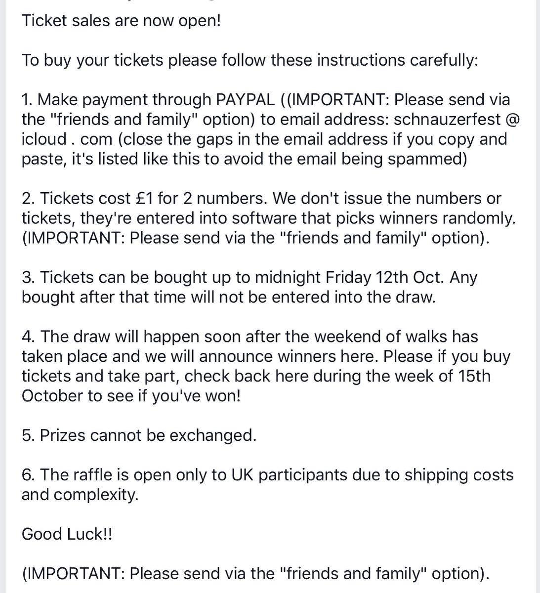 schnauzerfestuk on twitter raffle tickets are now on sale we
