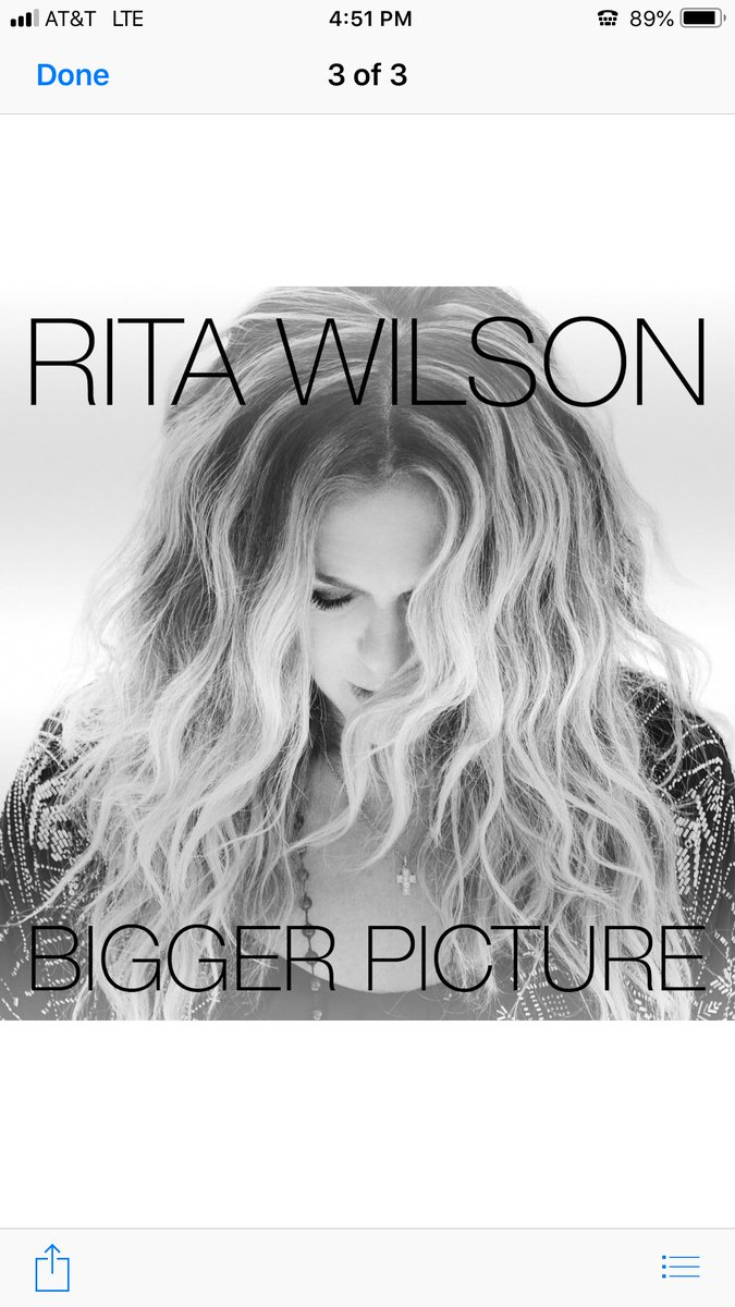 Hit record! @RitaWilson #1 on @amazonmusic! Bigger Picture amzn.to. I agree. Hanx