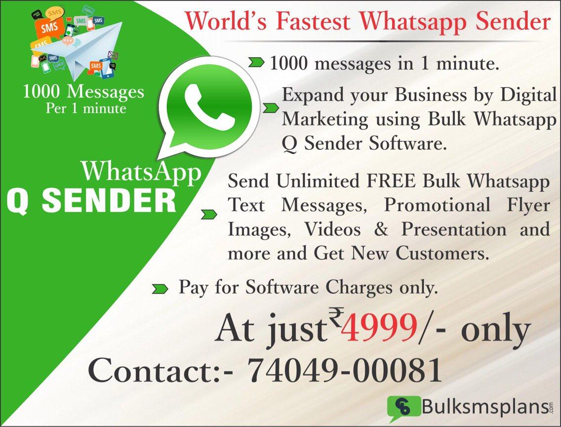 Bulk Whatsapp Sender Software Latest 2018