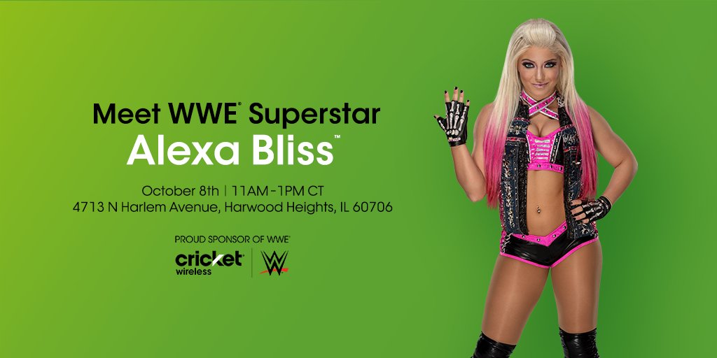 Cricket wireless on twitter mark your calendars chicago wwe 200 pm 4 oct 2018 m4hsunfo
