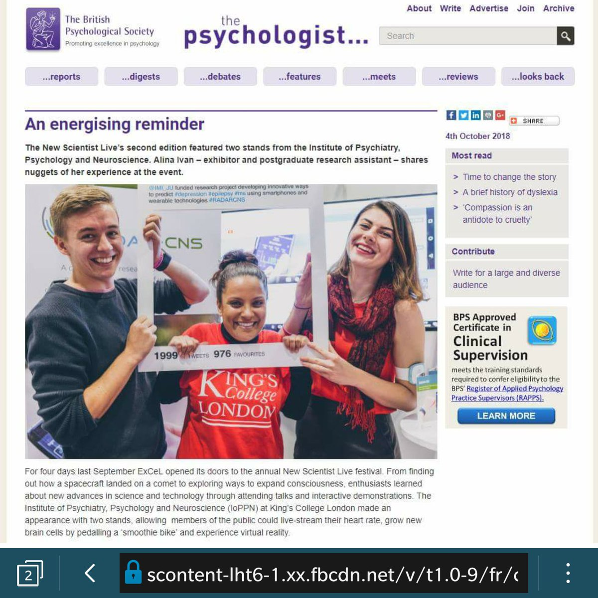The Hype Project On Twitter We Made It Into The Psychologist Read
