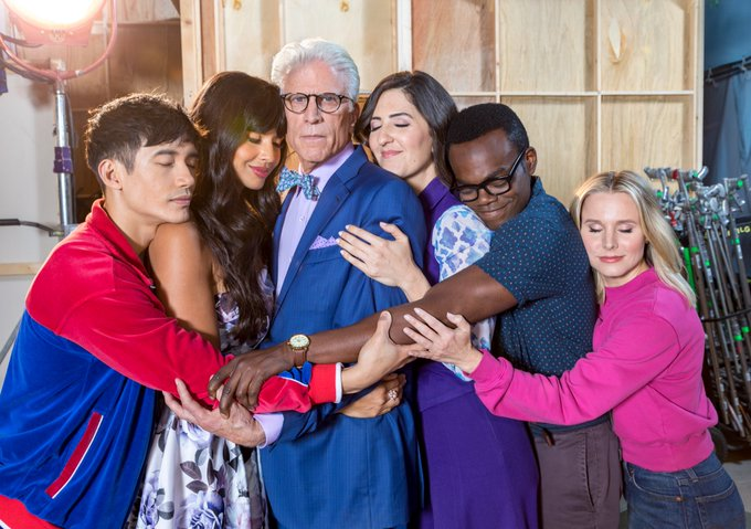 Love is all you need. Well, love and @TedDanson. #TheGoodPlace is back TONIGHT at 8:30/7:30c on nbc https://t