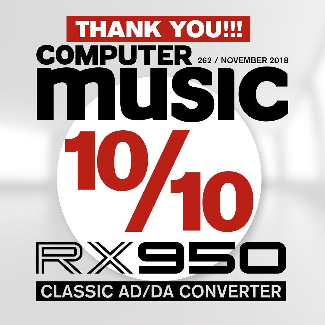 @computermusicuk gave a 10/10 score to our RX950 Classic AD/DA Converter! 🙏✌️✨