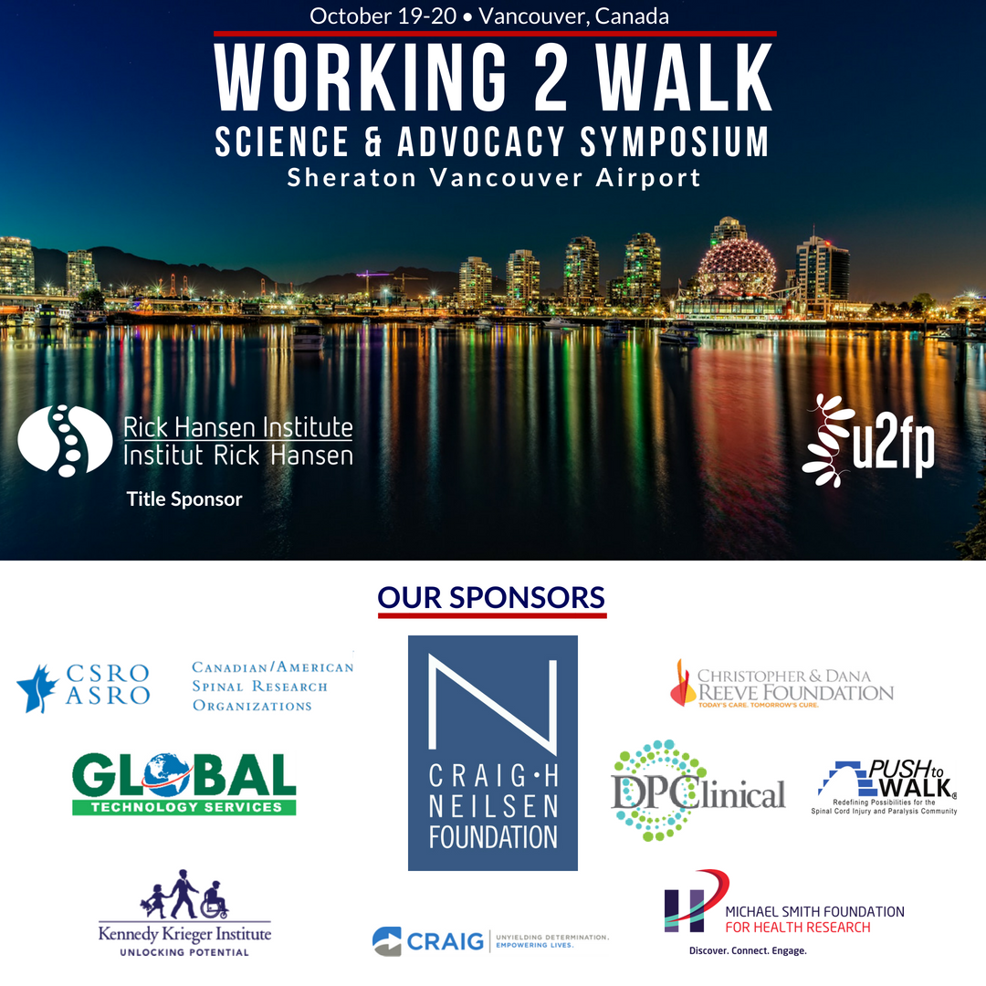 Only two weeks left until @U2FP_W2W  s annual science & advocacy symposium. Have you registered yet? Hope to see you there!  https://u2fp.org/working-2-walk/