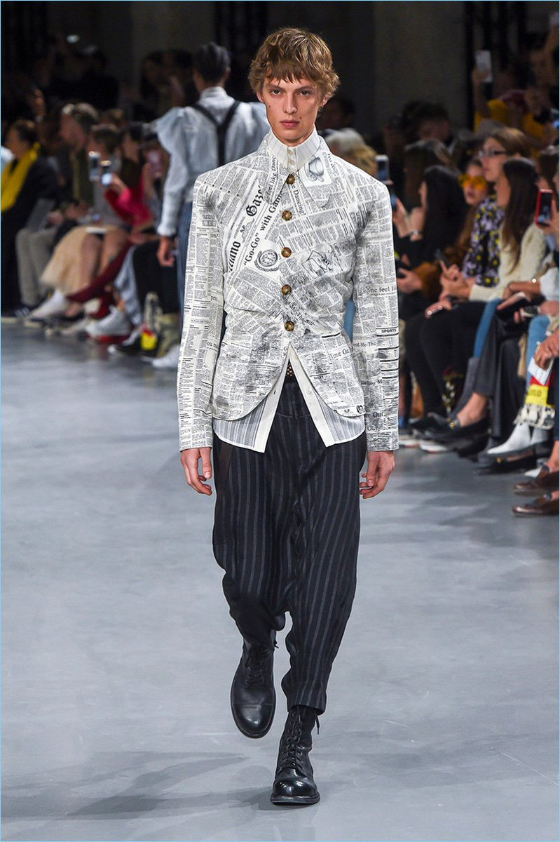 #JohnGalliano Gazette Print Makes a Comeback for Spring '19 Collection #SS19 https://t.co/CrMEgLlwWk