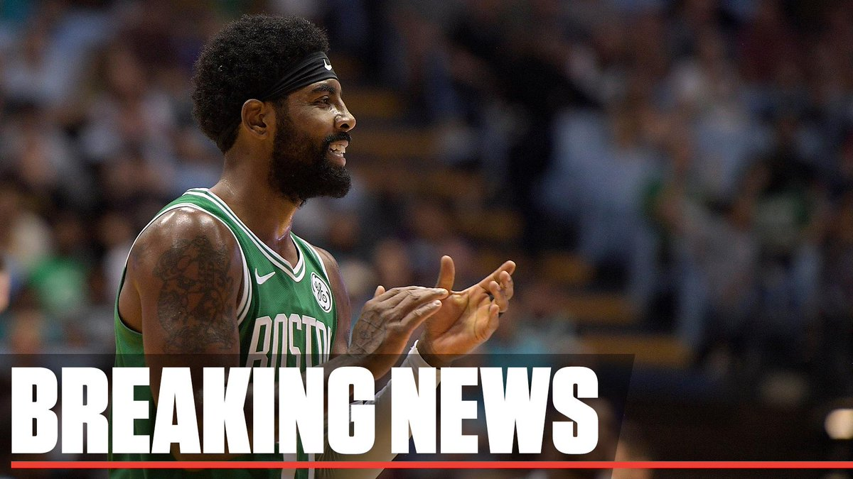 Breaking: Kyrie Irving tells Boston crowd he plans on re-signing with the Celtics for next season 'if you guys will have me.'