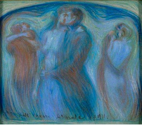 #Writing is a dance.  (Oscar Kallis, #Estonian Armula, showing explicit #Munch influence) #art #amwriting https://t.co/UsH2bhLDS3