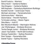 Mate Ma'a Tonga squad to face Kangaroos #MateMaaTonga  https://t.co/HGlDd6H0PX  @ISCSport