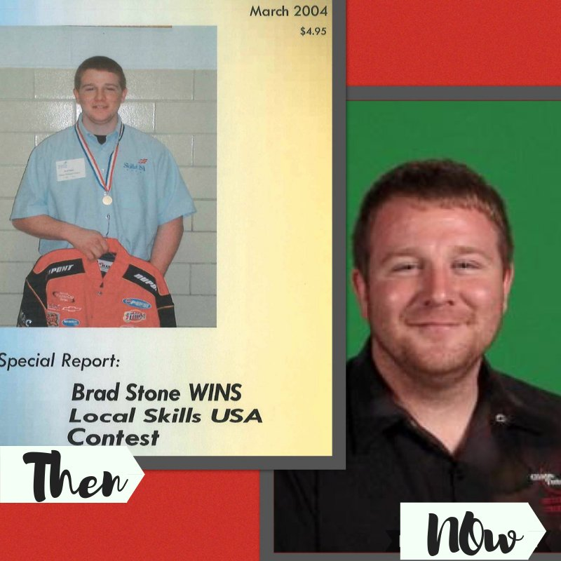 #TBT (Throwback Thursday) Brad Stone, the Automotive Technology instructor at Clinton Technical School attended the same program as a student that he now teaches!