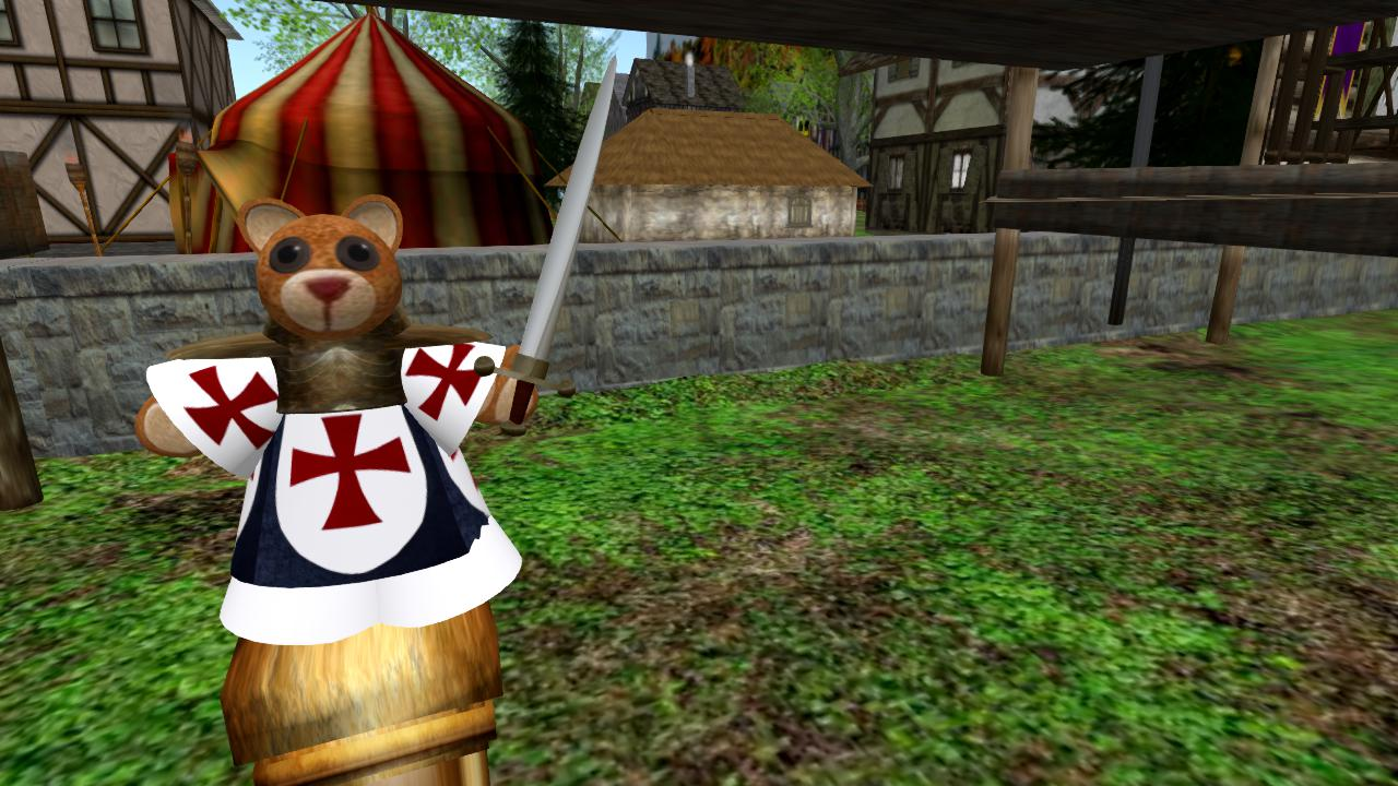 The Little Bear with a Dagger in Renaissance Island in Second Life!