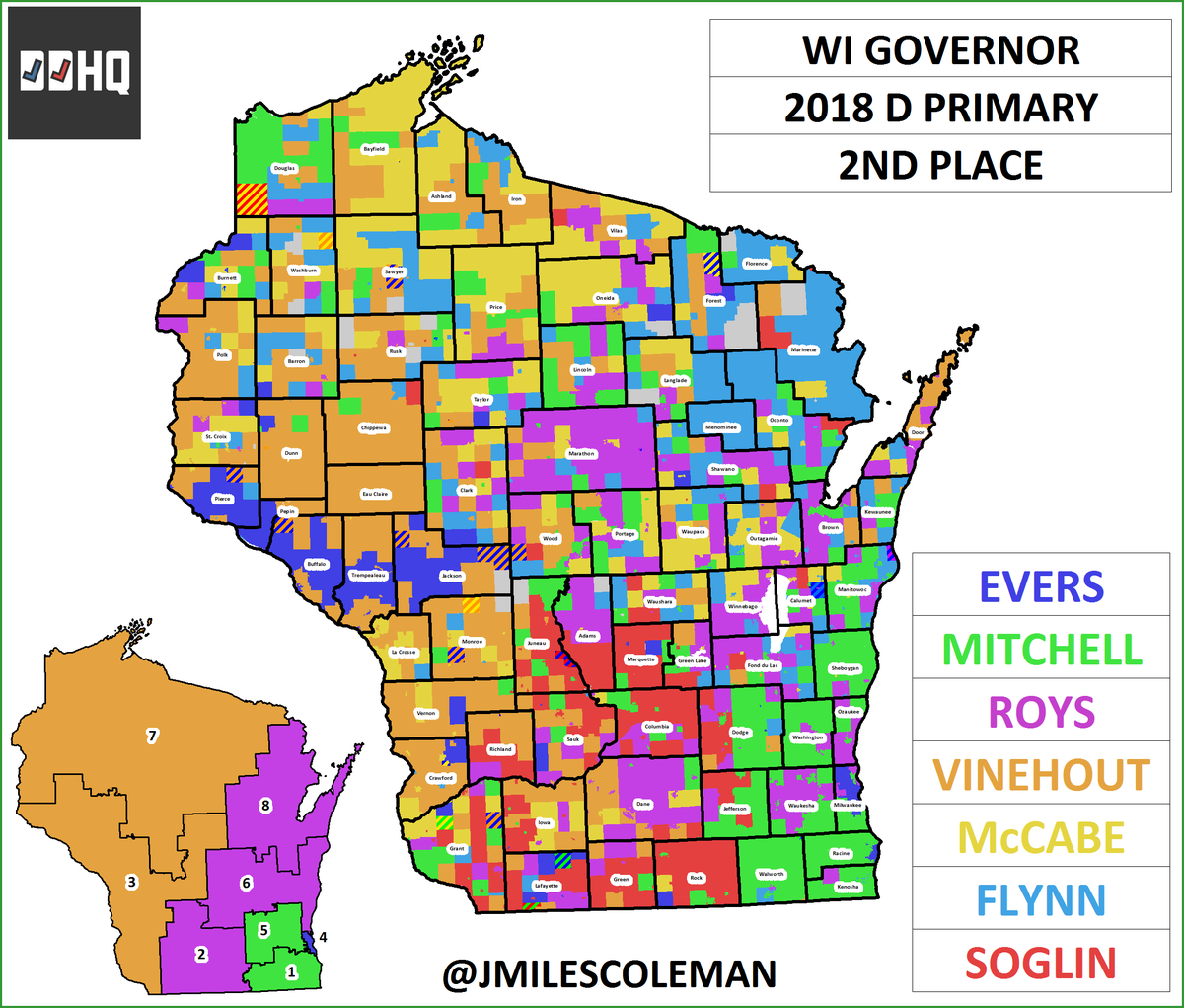 Charles Franklin On Twitter This Is The Best Map Of The Wisconsin