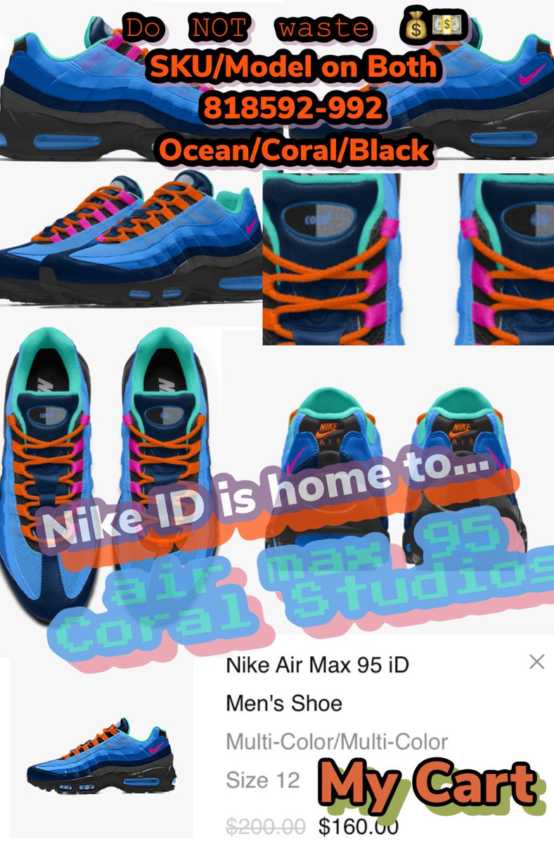 "best website c7123 f484b The air max 95  Coral Studios  considered ""EXCLUSIVE"" if u google search     stockx Has it up   its a full on  NIKEiD Pair DO NOT GET TAKEN!"