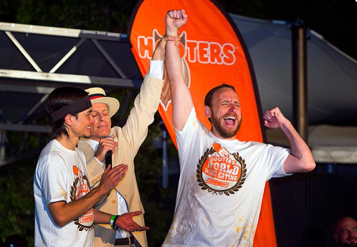 Image result for joey chestnut hooters