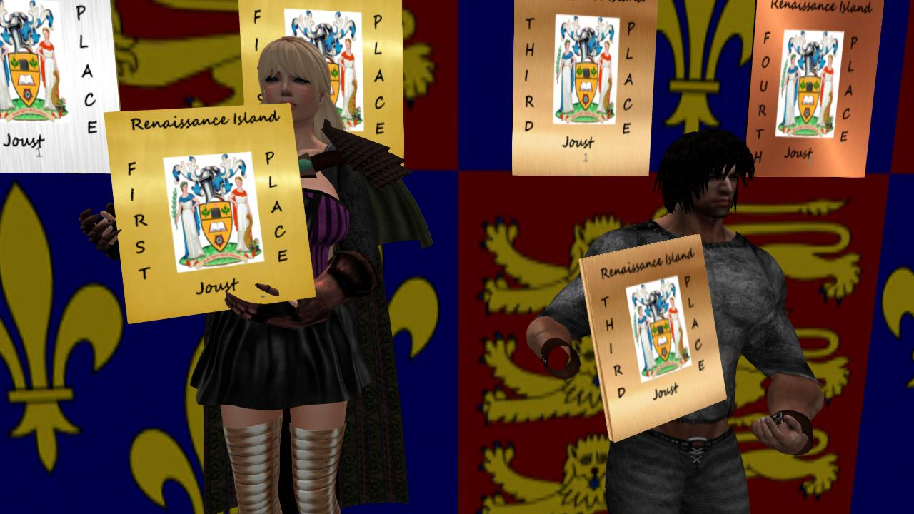 Congratulations to Rachel Windsong and Havagar. Two of the winners in the Jousting Tournament in Renaissance Island in Second Life!
