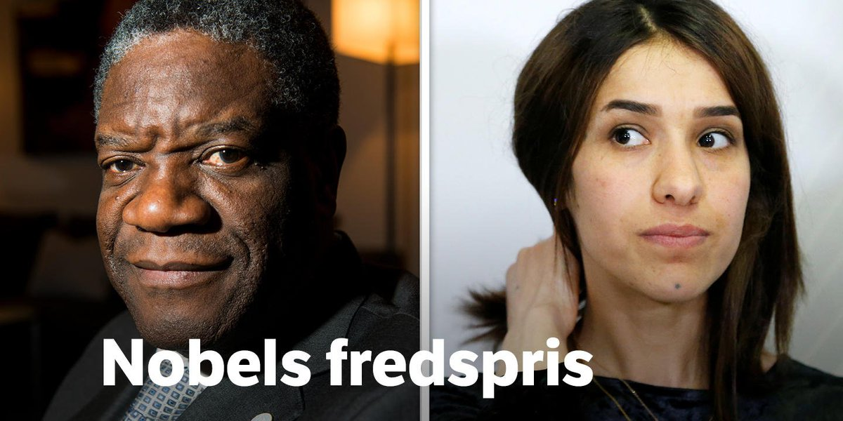 Andreas Blaauw Hval On Twitter Congratulations Denis Mukwege And Nadia Murad Nobelpeaceprize