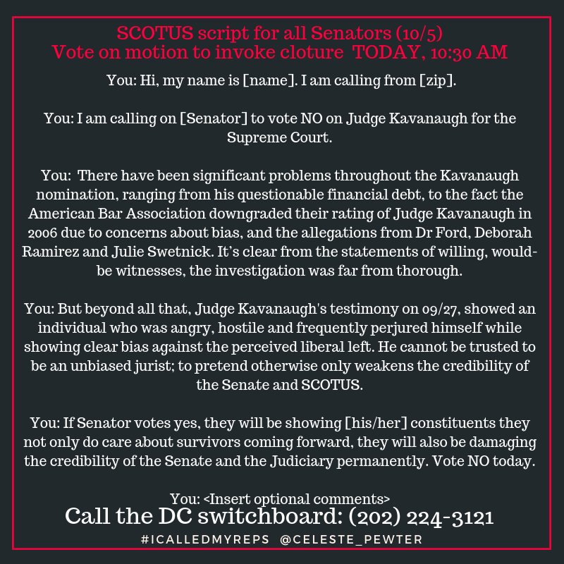 Call Your Senators – One Thing You Can Do