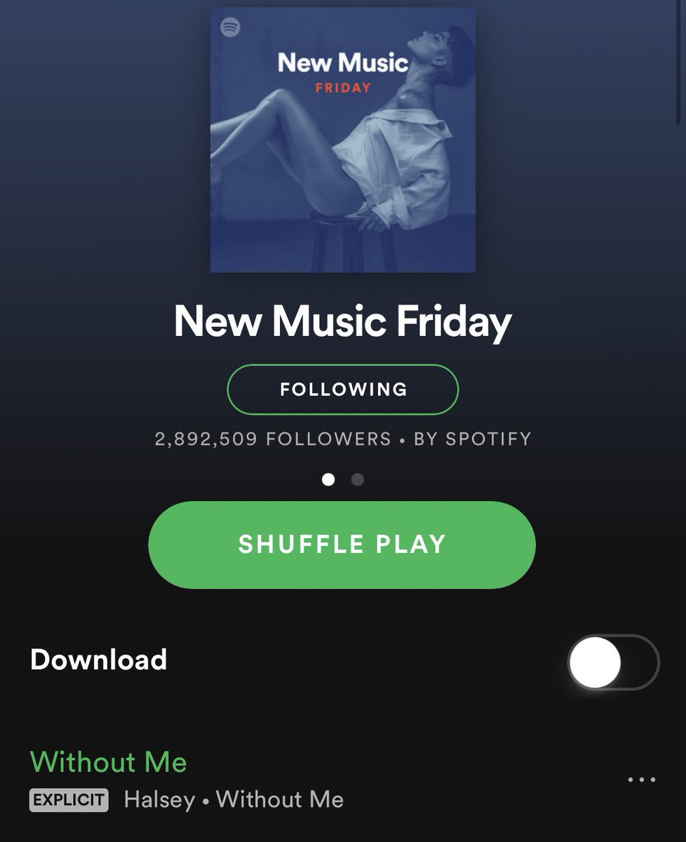 #1 ON NEW MUSIC FRIDAY and cover photo!!! thank you family!!! @Spotify https://t.co/9wZdM0rgr4