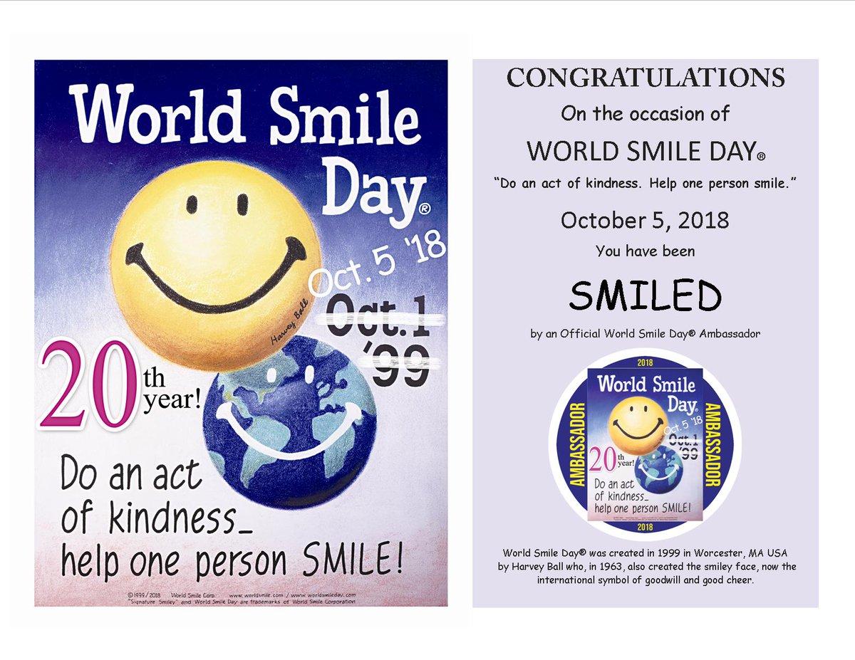 Smiley Worldsmileday Twitter