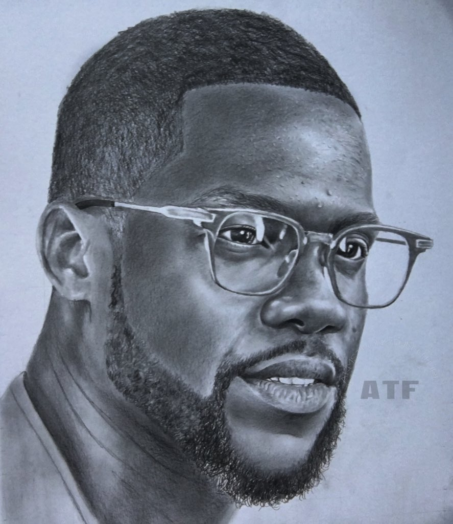 Atf on twitter pencil drawing of kevinhart4real by atf