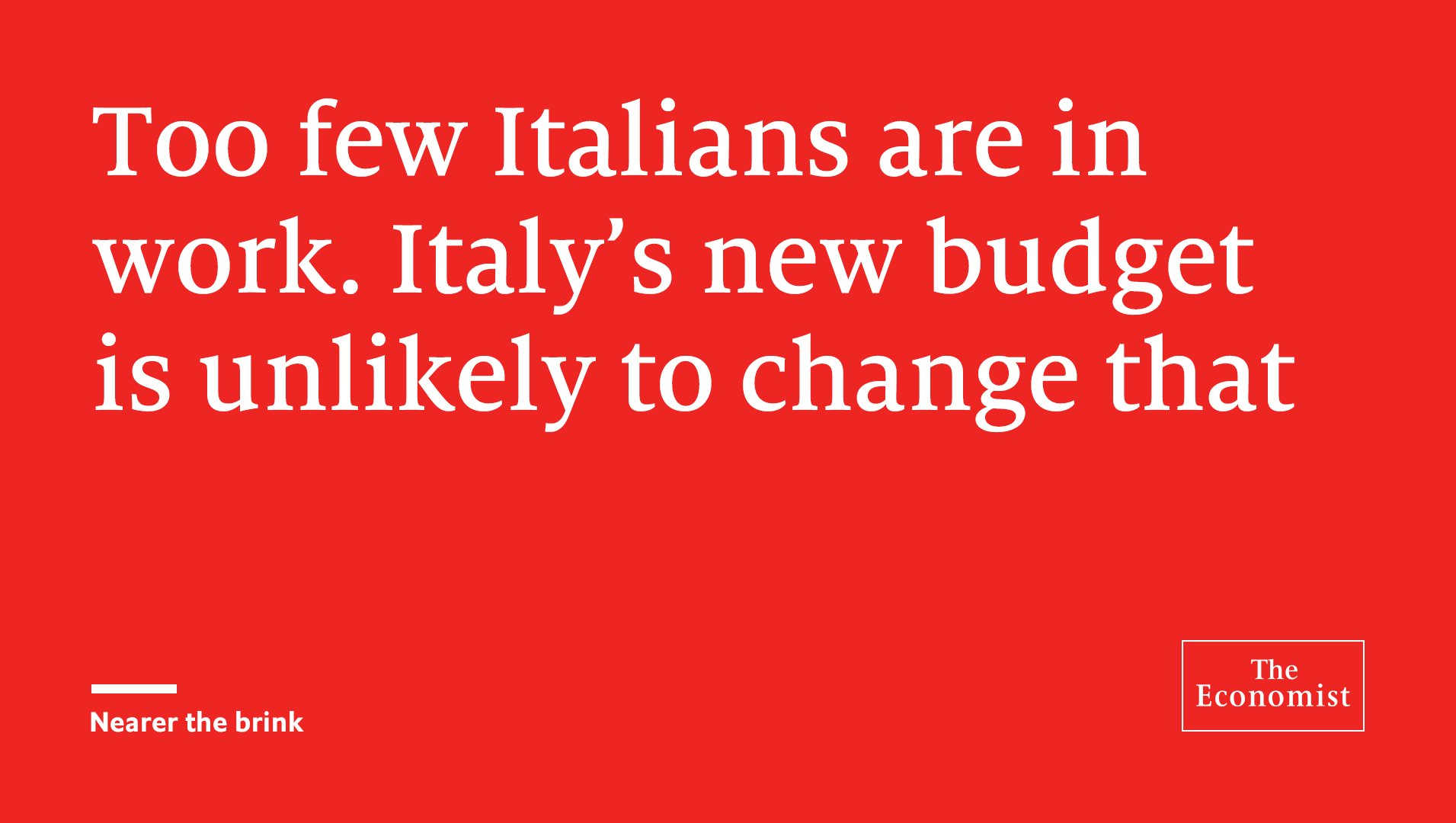 Italy's politics could push the country nearer default https://t.co/NvJw3ZTNYP https://t.co/0WjHuh0yVi