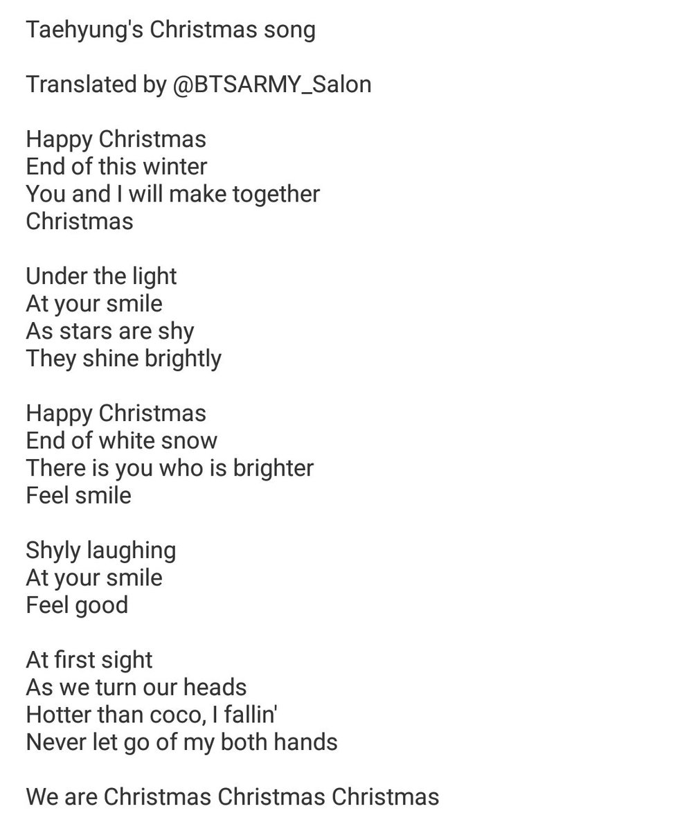 christmas song back number lyrics english