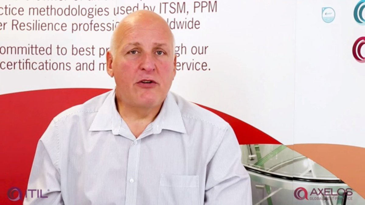 Quint asked Philip Hearsum (ITSM Portfolio Manager at @AXELOS_GBP ) how the coming release of #ITIL 4 impacts #ITSM professionals holding ITIL 3 or anyone interested in participating in future ITIL training. Here is his answer: https://okt.to/tEVNbr   #ITIL3 #AXELOS