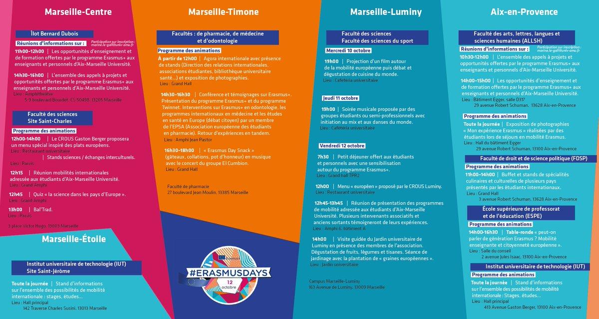 Aix Marseille Universite Di Twitter Erasmusdays2018 Les