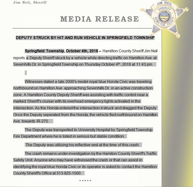 Hamilton County Sheriff's Office-Sheriff Jim Neil on Twitter