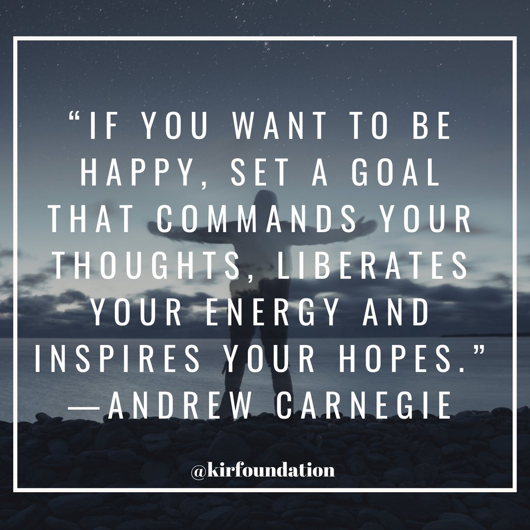 """If you want to be happy, set a goal that commands your thoughts, liberates your energy and inspires your hopes."" —Andrew Carnegie #FridayFeeling #BuenViernes #WorldSmileDay #WorldTeachersDay<br>http://pic.twitter.com/dD54j1tqKM"