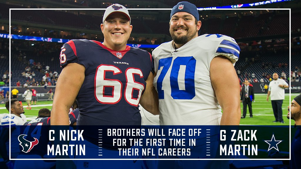 "Texans PR on Twitter: ""#Texans C Nick Martin and Cowboys G Zack ..."