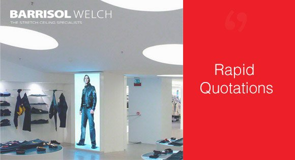We offer a fast and accurate quotation service that is tailored to your time sensitive needs, without any hassle.  Call us on 0800 124 4143 or visit our website for more information: http://www.barrisolwelch.com/services/rapid-quotations/…  #Barrisol #StretchCeilings #Installations #RapidQuotations