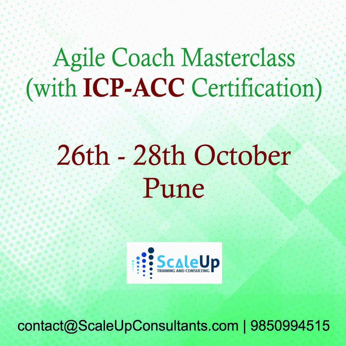 Scaleup Consultants On Twitter Agile Coach Masterclass With Icp