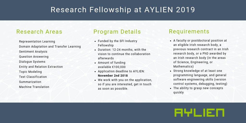 Parsa Ghaffari On Twitter Our 2019 Research Fellowship Program Is