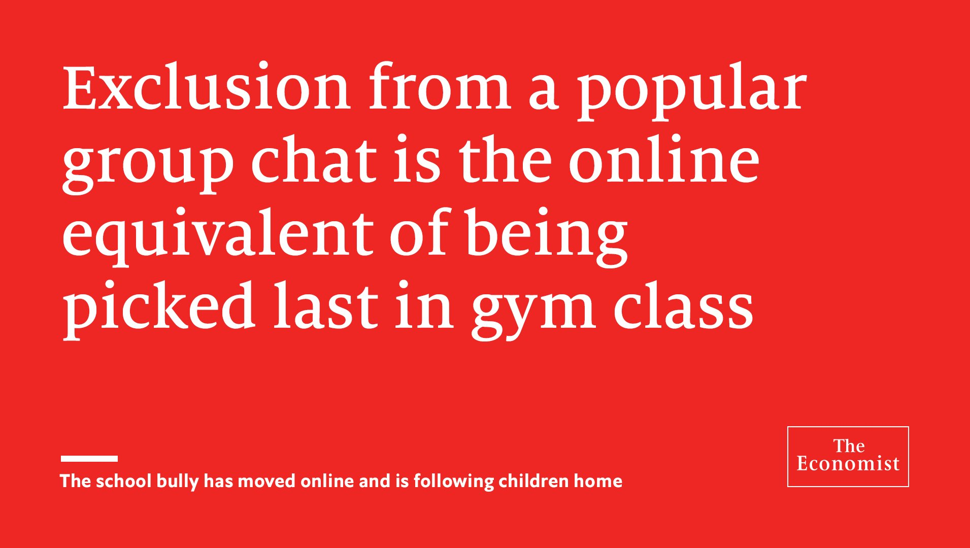 Teachers and parents struggle to recognise the problem of cyber-bullying or to solve it https://t.co/7RbQM5iZS8 https://t.co/CEHiDE2Aya