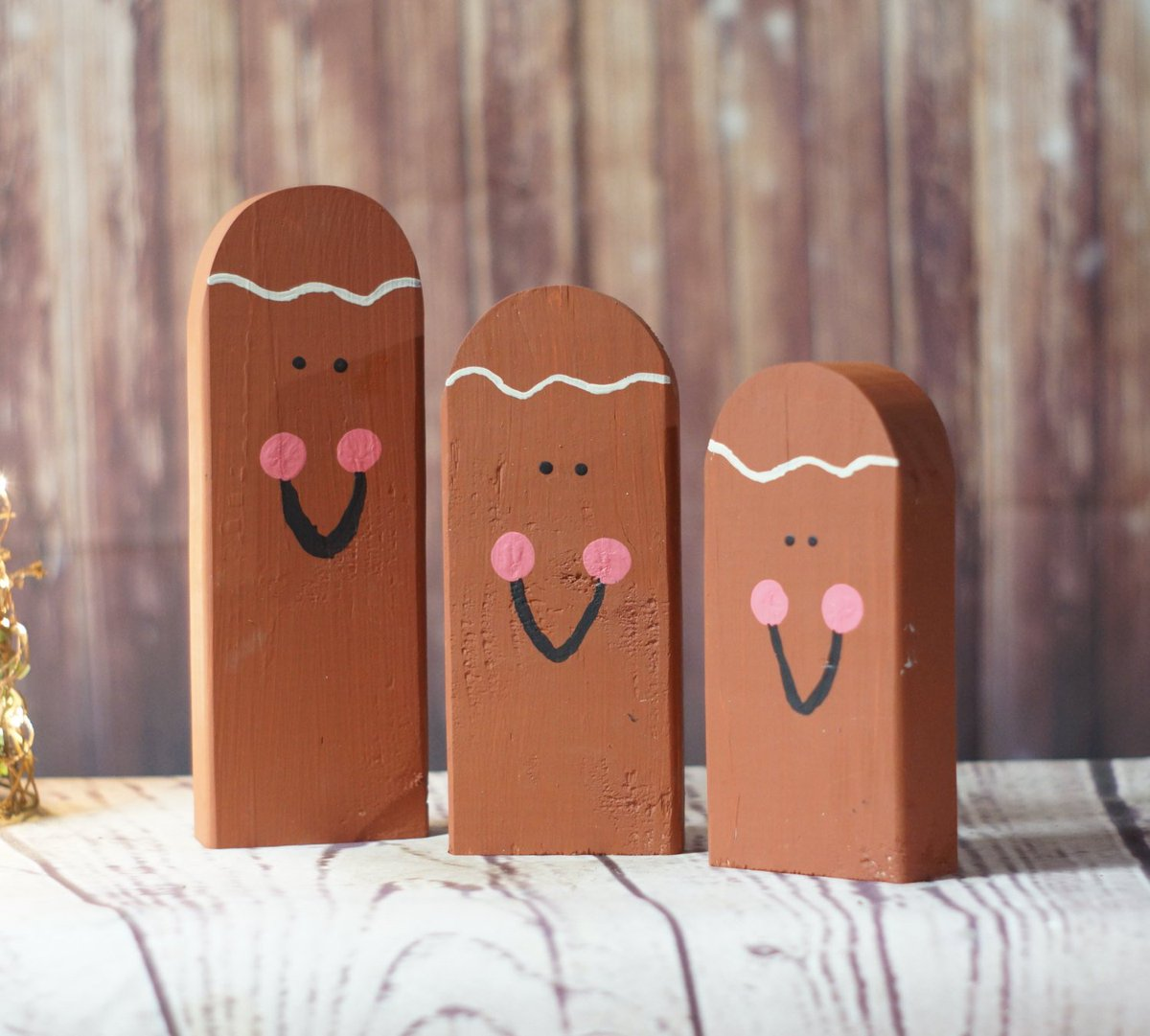 Sarah At Gft On Twitter Wooden Gingerbread Man Hand Painted