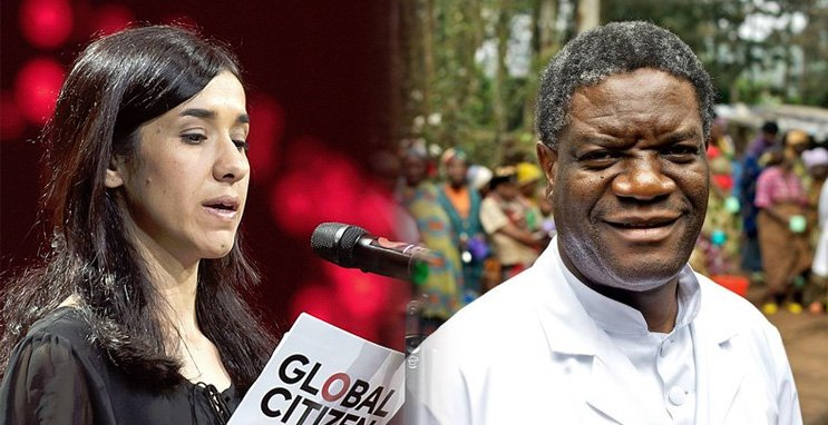 An important recognition for @NadiaMuradBasee and @DenisMukwege. They were jointly awarded the #NobelPeacePrize for 'their efforts to end the use of sexual violence as a weapon of war'. May the world hear them and support their work even more now! #Women #Rape #Congo #DRC #Yazidi