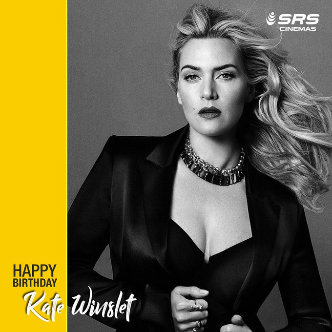 wishes the charming Kate Winslet, a very happy birthday.