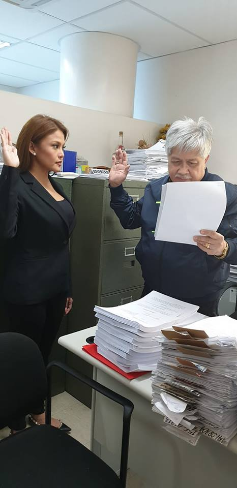 LOOK: News anchor and reporter Gretchen Fullido files criminal cases against ABS-CBN news executives and reporter for sexual harassment, libel and victim shaming.