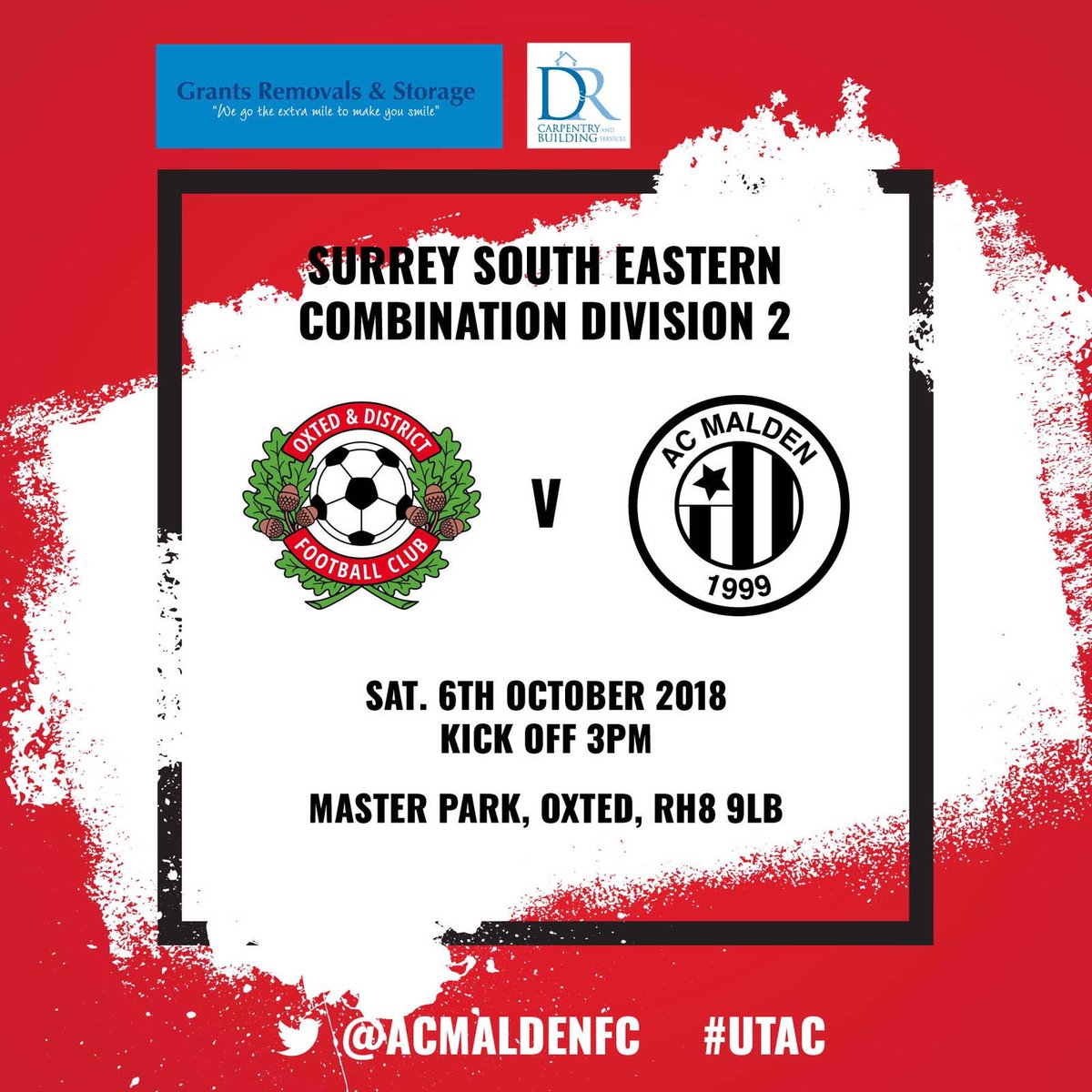 We are back on the road tomorrow against @oxtedfc 3pm KO in the SSEC Division 2 ⚫️🔴⚫️🔴 #UTAC