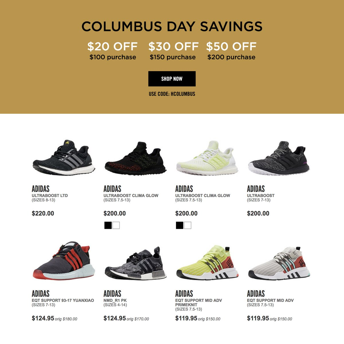 5e8b81e1d9aba ... discount code for adidas alerts on twitter columbus day sale on  jimmyjazz. 20 off 100