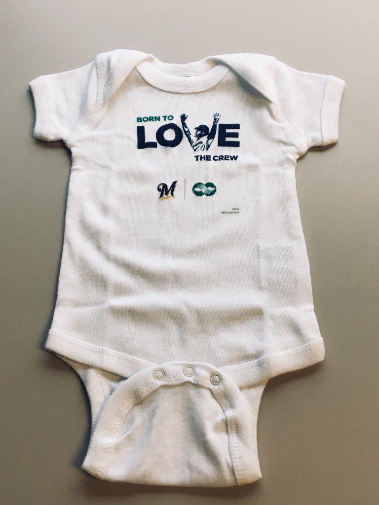 Milwaukee Brewers Watching With Daddy Baby Short Sleeve Bodysuit