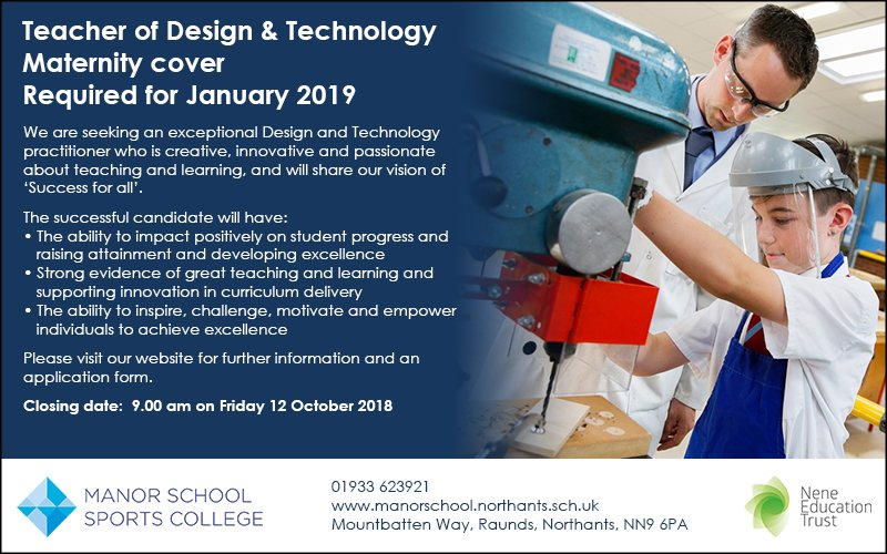A great opportunity!  #dtchat #teachingvacancyuk #teachingjobs #eastmidlands