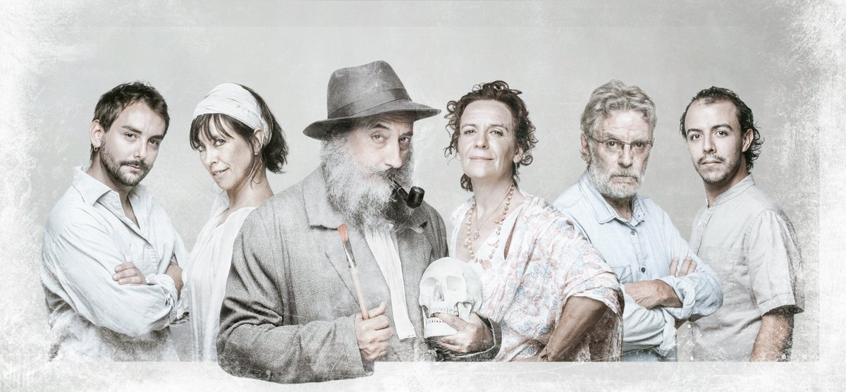 Els amics dels Joglars a punt de presentar Señor Ruiseñor. @ElsJoglars   A la foto: Xevi Vilà, Juan Pablo Mazorra, Ramón Fontseré, Pilar Sáenz, Rubén Pérez i Dolors Tuneu.